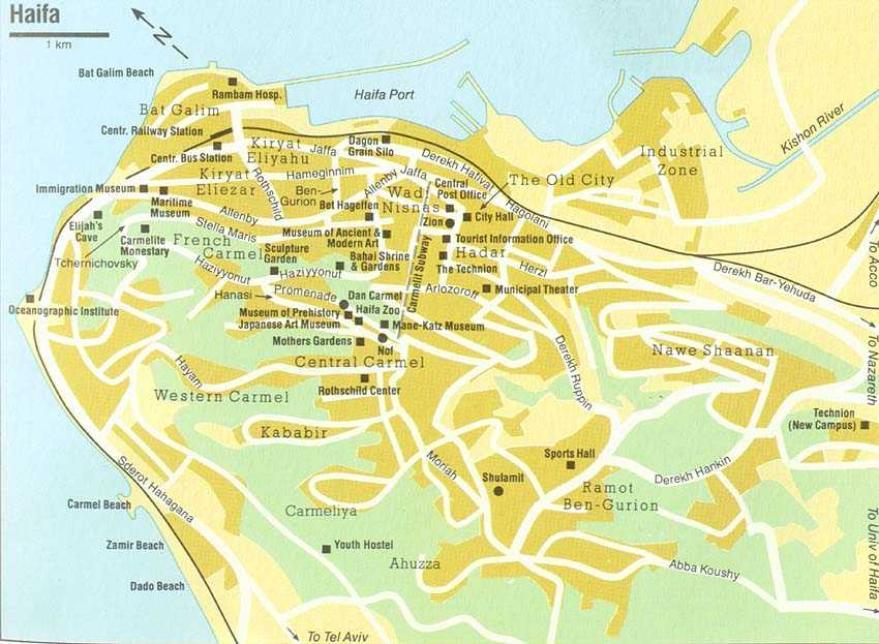 Хайфа и Крайоты - Карты,